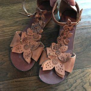 Chocolat Blu Anthropologie sandals leather size 7